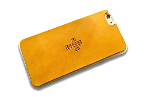 Leather iPhone 7 Plus Case | Christian Cross | The Lodgepole Case | Handmade 5.5'' Hard Back Slim Fit Silicone Edges Protective Cowhide w/Multiple Color Choices by Lodgepole Leathercraft