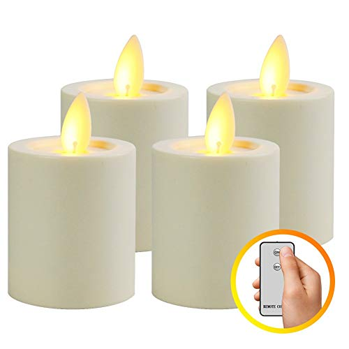 Burning Sister Led Electric Flameless Flickering Battery Operated Tea Lights Candles with RF Remote and Timer