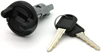 Ignition Lock Cylinder Black Bezel With Key for GM Car Van Pickup Truck SUV
