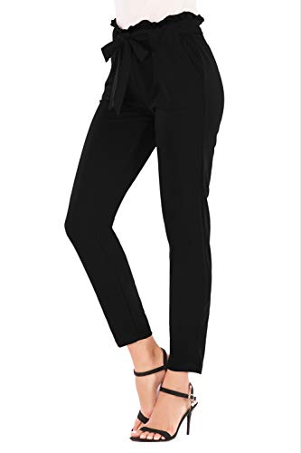 Lucuna Women's Casual Long Stretchy Straight Leg High Waisted Long Pants for Women from Lucuna