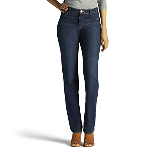 - LEE Women's Tall Instantly Slims Classic Relaxed Fit Monroe Straight Leg Jean, Ellis, 16 Tall