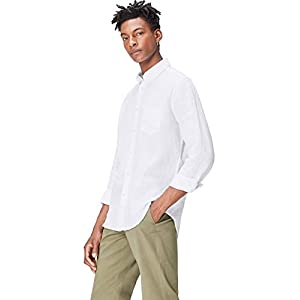 Amazon Brand – find. Men's Regular Linen Shirt