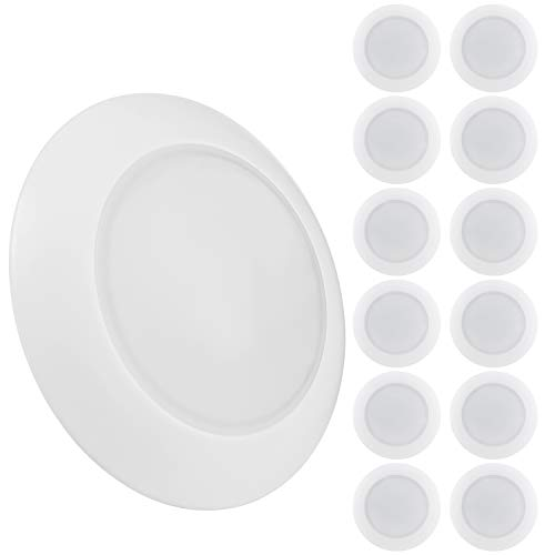TORCHSTAR Dimmable LED Disk Light Flush Mount Recessed Ceiling Lights, 15W (85W Eqv.), Energy Star & UL-Listed, 3000K Warm White, CRI 90+, Installs into 3