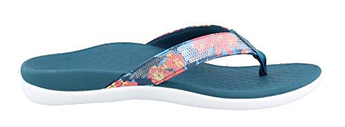 VIONIC Orthaheel Tide Sequins Womens Orthotic Sandals Teal Floral