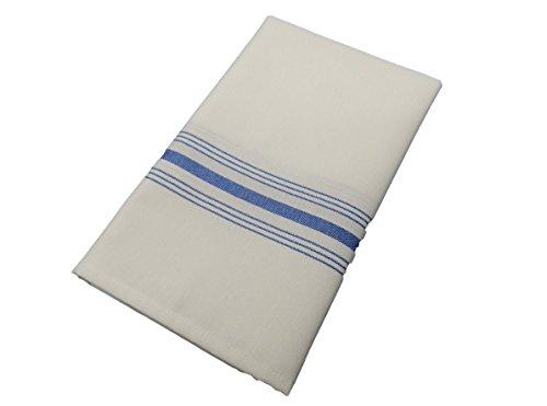 Milliken Signature Stripe Bistro Napkins - Assorted Colors - Set of 12 (Blue) by Milliken
