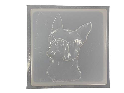 Boston Terrier Dog Stepping Stone Concrete Plaster Mold 1167 For Sale