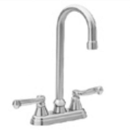 Jado 816002.113 Gooseneck Bar Faucet With Lever Handles In Ultra Brass ()