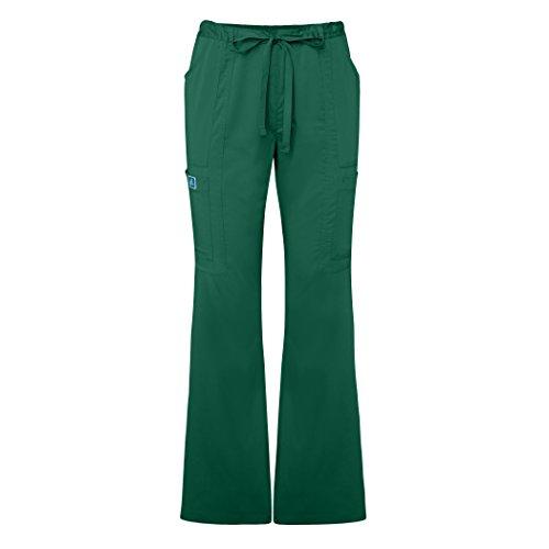 Adar Indulgenc Jr. Fit Low Rise Boot Cut Patch Pocket Pants - 4104 - Hunter Green - XL