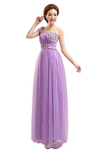 Kristallballkleider Emily StyleC Beauty Brautjungfernkleid Süße Lila Traumhafte Chiffon vestido 4IWdWn