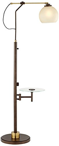Jobe industrial floor lamp with tray table and usb port mozeypictures Choice Image