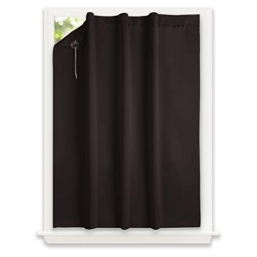 (NICETOWN Blackout Drape Window Blind - Privacy Drape Easy for Roof Window, Portable & Travel Shade (1 PCS, 130 x 198 cm, Toffee Brown))