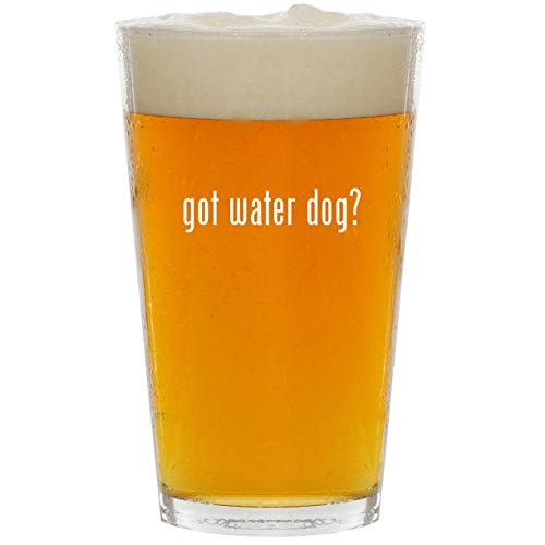got water dog? - Glass 16oz Beer - Waterer Training Dog