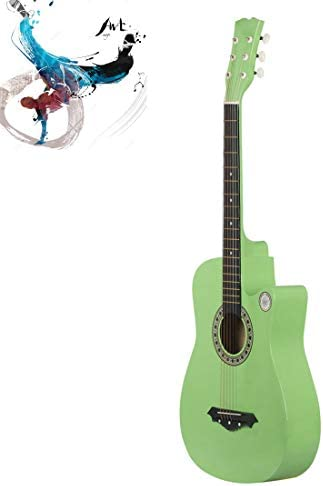 WXJHA 38 Inch Acoustic Guitar String Acoustic Guitar Toy for KidsVibrant Sounds and Tunable Strings Suitable for Fingering Friends