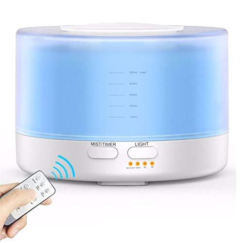 JASZHAO 500ml Remote Control Air Aroma Ultrasonic Humidifier