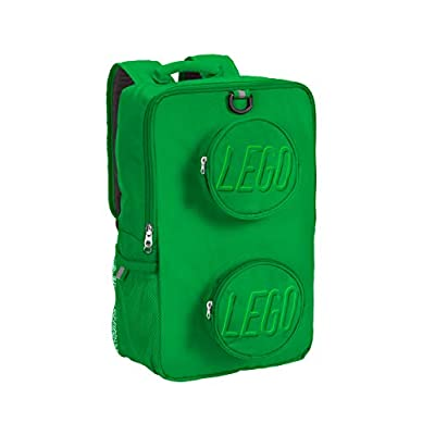 LEGO Brick Backpack, Green, One Size