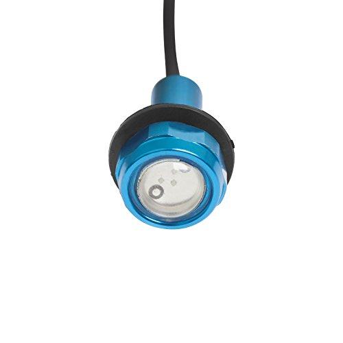 (Yak-Power Super Bright LED Button Light Kit Blue (2pcs))