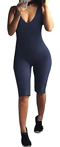 Plus Size Cat Suit (Capri Bodysuit Knee Length Unitard Catsuit for Women Plus Size Clubwear Jumpsuit)