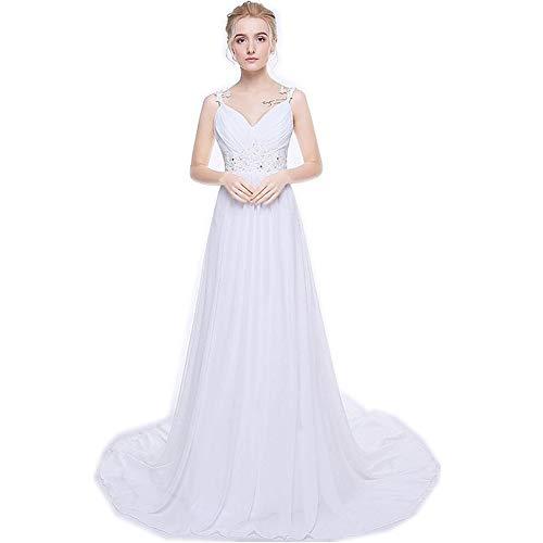 qibinfs Beach Wedding Dress Plus Size Chiffon Wedding Gowns ...