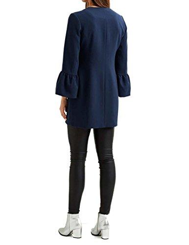 Vimary Azul Azul Marino Mujer Abrigo Vila Jacket ngq0w1fqA