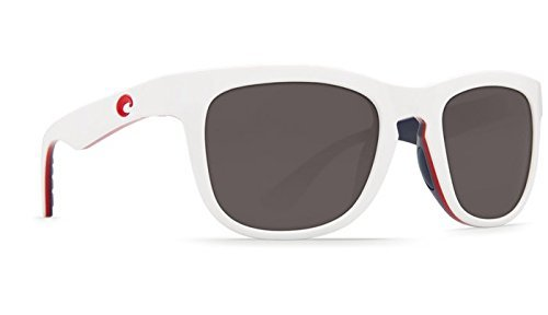 Costa Del Mar Copra Sunglasses USA White Frame Gray 580Plastic - Costa Copra