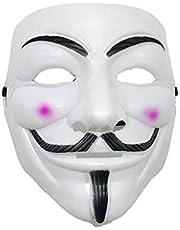 Hacker Mask V for Vendetta Mask Halloween Masks Anonymous Guy Mask for Halloween Costume prop toys for boys and girls
