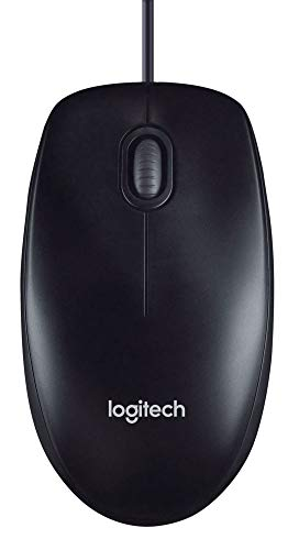 - Logitech M100 Corded Mouse - Wired USB Mouse for Computers and Laptops, for Right or Left Hand Use, Black