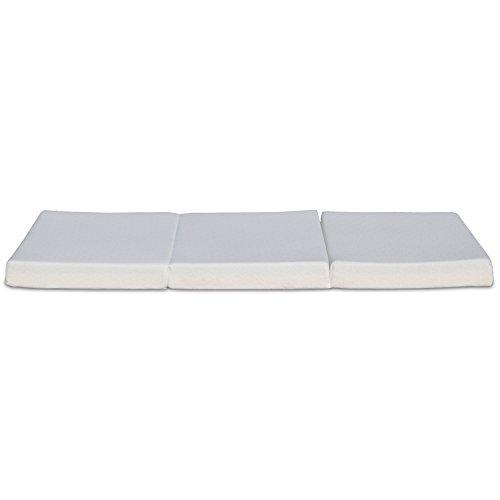 best price mattress tri fold memory foam mattress topper 4 inch camping companion. Black Bedroom Furniture Sets. Home Design Ideas