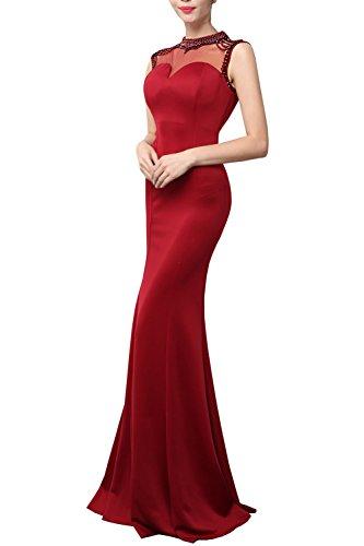 Convenzionale D'onore Da Elegante Rosso Kaxidy Sera Damigella Sera Vestito Abito Da Lungo Maxi Vino Da Paillettes Del Abito qAwqvZ8