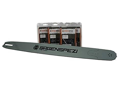 S/ägenspezi 40cm Schwert 3//8P 4 Halbmei/ßelketten passend f/ür Stihl MS231 MS 231
