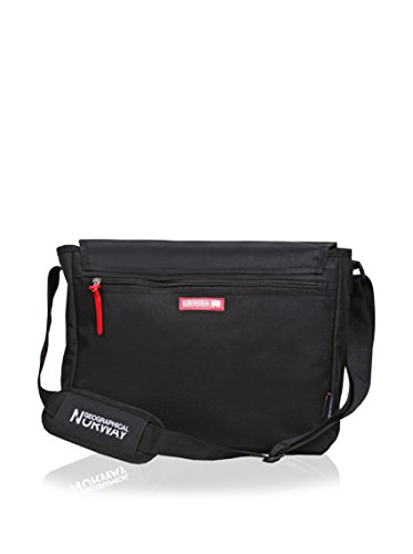 Geographical Norway Bolsa messenger Flag Negro