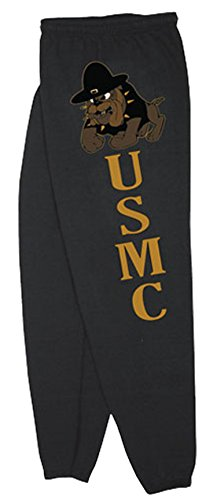 Fox Sweatpants (US Marines USMC Sweatpants,Medium,Marines Bulldog Black)