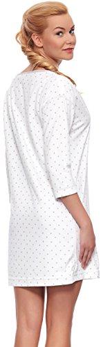L&L Camisón con Mangas Largas para Mujer Astra Crema