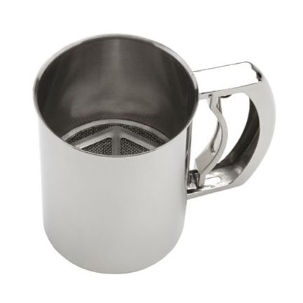MIU France Stainless Steel Double-Mesh Flour Sifter, Silver by MIU France