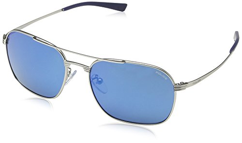 Police sunglasses S8952 Rival 1581B Metal Silver Grey with Blue mirror - 2014 Police Sunglasses
