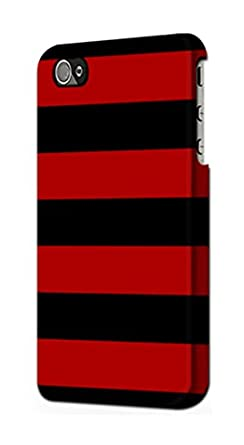 94b1933c80f2fb Image Unavailable. Image not available for. Color  R2638 Black and Red  Striped Case Cover For IPHONE 5 5S SE