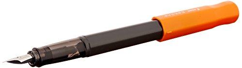 Pilot Kakuno Fine-Nib Fountain Pen, Black Body Orange Cap Body (FKA-1SR-OF)
