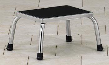 (CLINTON STEP STOOLS Chrome step stool Item# T-40)