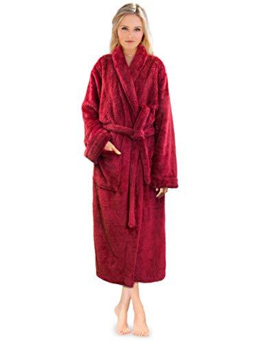 PAVILIA Premium Womens Plush Soft Robe Fluffy, Warm, Fleece Sherpa Shaggy Bathrobe