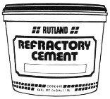 Refractory Cement Premixed (Rutland 611 Refractory Cement, 1 Gallon Capacity)