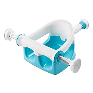 Summer My Bath Seat (Aqua) – Baby Bathtub Seat for Sit-Up Bathing, Provides Backrest Support and Suction Cups for Stability – This Baby Bathtub is Easy to Set-Up, Remove, and Store