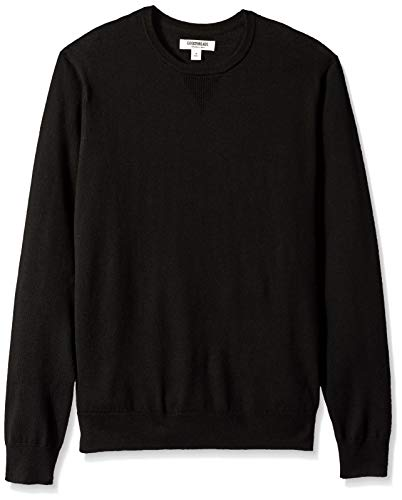 Wool Mens Sweater - Goodthreads Men's Merino Wool Crewneck Sweater, Black, Large