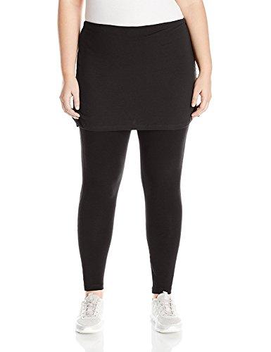 なに懲戒表面Rainbeau Curves Women's Plus Sizephoebe Skirted Legging Size Black 3X [並行輸入品]