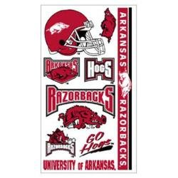 - Arkansas Razorbacks Temporary Tattoos