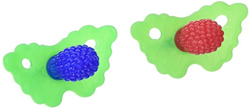 Razbaby Raz-Berry silicone Teethers Double Pack Both Colors in One Package.