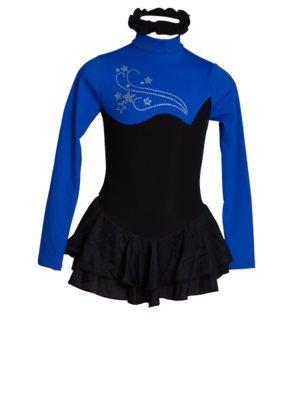 Intermezzo Tunique Justaucorps de Patinage Polaire Noir et Bleu - XS   Amazon.fr  Vêtements et accessoires 6ab7f164789