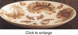 Lenox China Giftware Burnished Amber : Shallow Dish