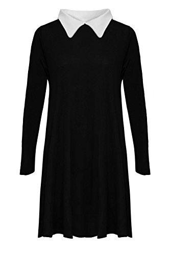 Générique - Camiseta de manga larga - para mujer multicolor - negro