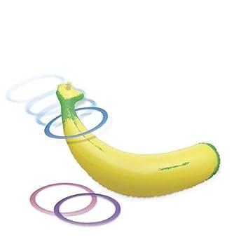 Amazon.com: Juego de banana inflable con diseño de papel ...