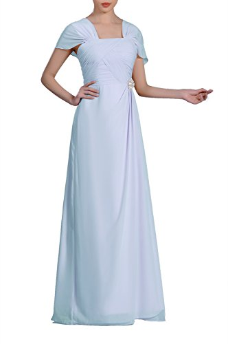 Pleated Sheath Silk Dress (Formal Pleated Chiffon Bateau Sleeveless Sheath Long Mother Of The Bride Groom Dress, Color Baby Blue,16)