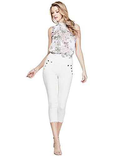 Los Angeles Donna Capri Jeans Guess Marciano Bianco TCwAqSq